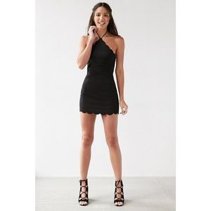 Urban outfitters black bodycon halter dress S